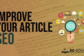 Improve your article seo